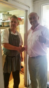 We were lucky enough to welcome Len Goodman to The Crown for Lunch today, he made time to thank Adrian personally for his lunch, a 10 from Len - not bad!!